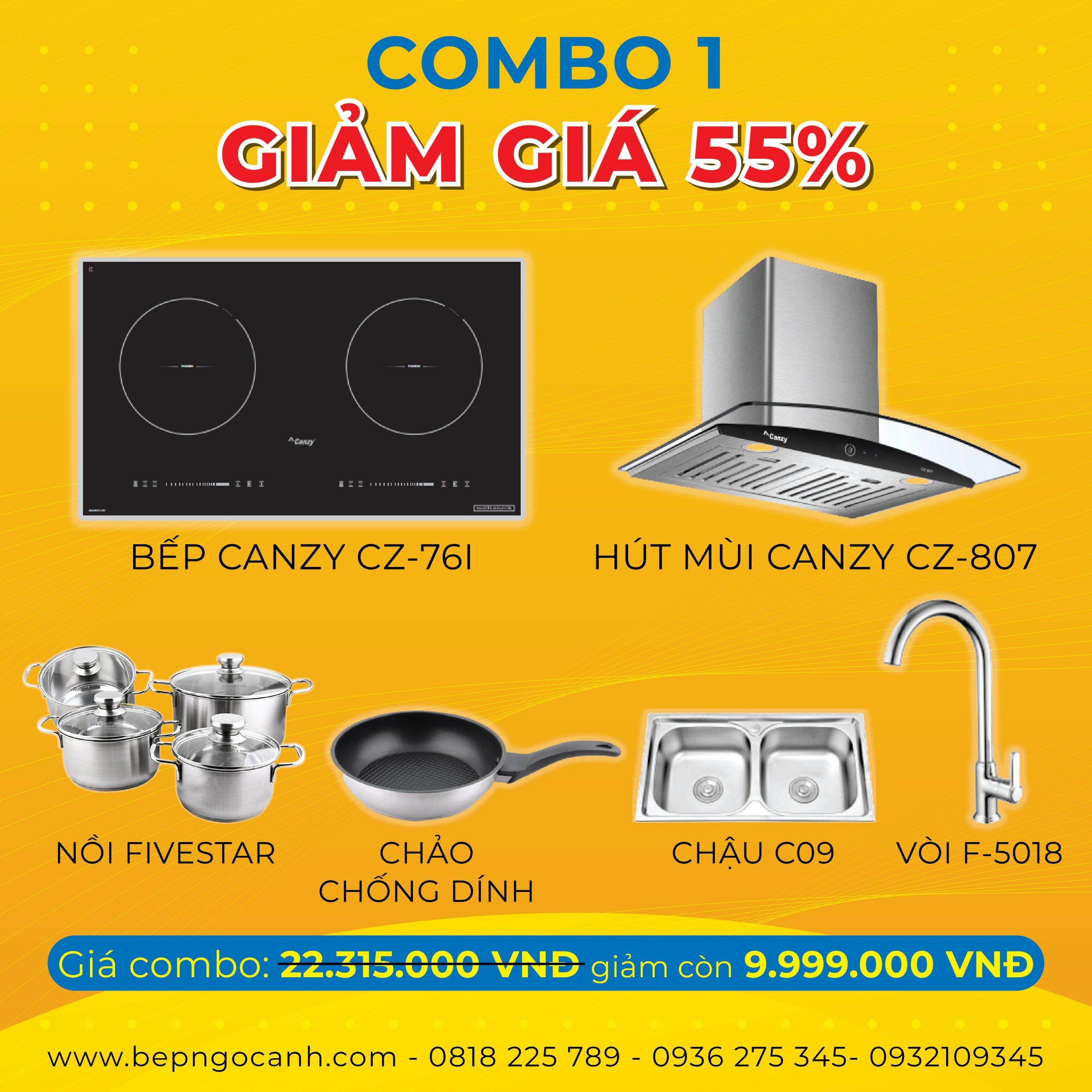 Combo tiết kiệm hơn 12 triệu VNĐ khi mua thiết bị nhà bếp tại Bếp Ngọc Ánh