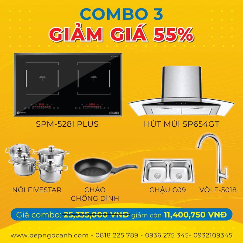 Đại tiệc sale up combo 3 siêu giảm giá 55% tại Bếp Ngọc Ánh